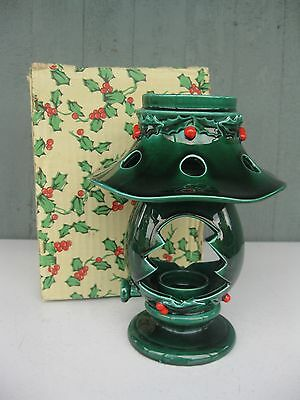 "Vtg Lefton Christmas ""Coleman"" Lantern Votive Candle Holder Japan Original Box"