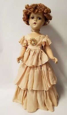 "21"" 1940-43 Southern Girl Composition Wendy Ann face Doll"