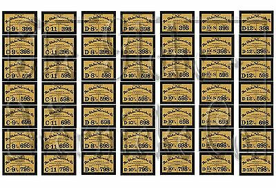 Rare 398/598/698/798,globe Wernicke® Bookcase Labels! Perfect Factory Re Issue!