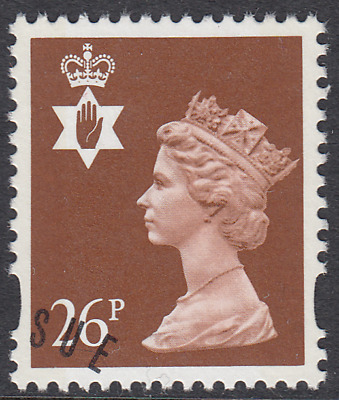 GB Stamps 1996 Northern Ireland Machin 26p Red Brown, 2 Bands, VFUsed, S/G NI73