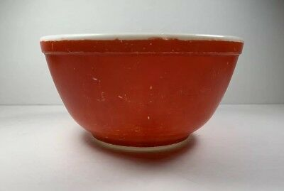 Vintage Pyrex Primary Red 1 1/2 Qt Mixing Bowl # 402