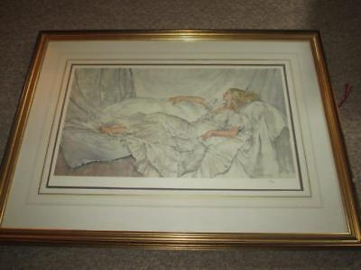 "Sir William Russell Flint  ""Silver And White""  Ltd Ed 235/850 Print c1982"