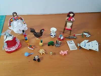 Miscellaneous Dollhouse Miniatures  Lot Of 20