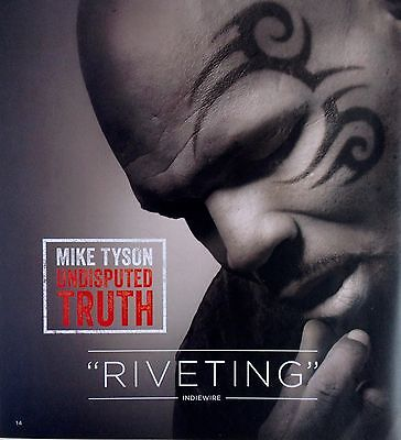 MIKE TYSON UNDISPUTED TRUTH, 2014 HBO FYC DVD Stand Up Documentary (Spike Lee)