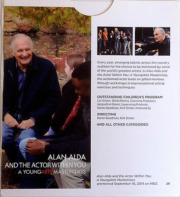 Alan Alda The Actor Within You/Saving My Tomorrow 2014 HBO FYC DVD Documentaries