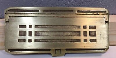 Vintage Brass American Device Art Deco Mail Door CA9 Antique