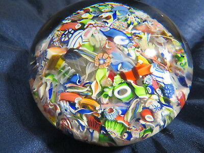 Antique Magnum St Louis Millefiori Scramble PAPERWEIGHT  Briefbeschwerer 1850