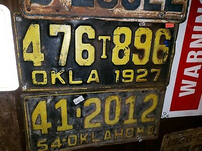 1927 Oklahoma Pickup Truck License Plate Ford Chevy