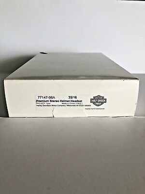 Harley Davidson Premium Stereo Helmet Headset 77147-98A Brand NEW in Retail Box