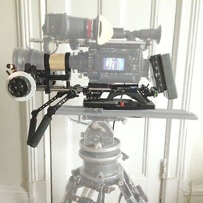 Anamorphic camera rig for tripod and shoulder mount, camera&lenses not included