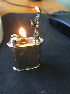 Antique Evans Lift-Arm lighter - chrome