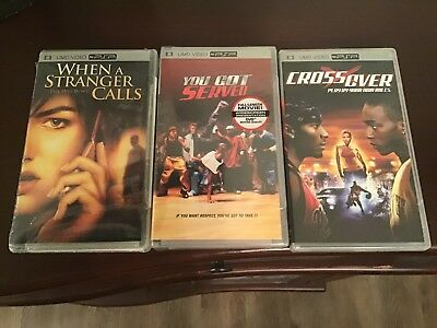 PSP UMD Movie Lot of 3 Movies You Got Served, Stranger Crossover,  2 New Sealed