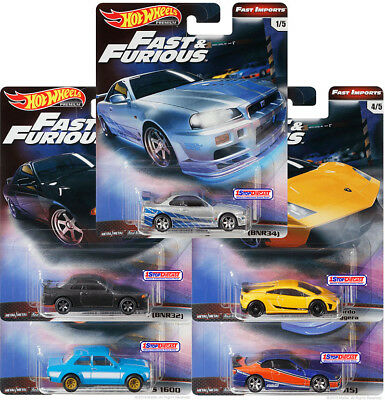 Hot Wheels 2019 Fast & Furious Premium Gbw75-956A All New - Set Of 5 - Pre Order