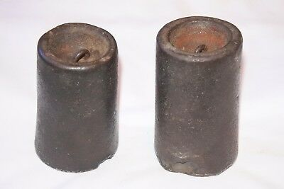 Pair of Antique Clock Weights for Vintage Gilbert Wall Pendulum Clock Parts ..
