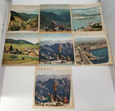 Federal Republic of Germany Travel Booklets Set of 7 1950s Any Time is Travel