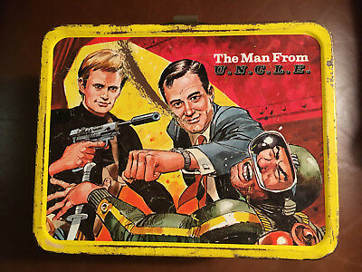 Vintage 1966 The Man From Uncle Metal Lunchbox