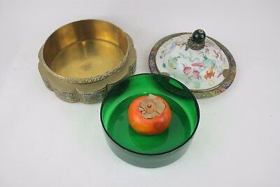 Superb Chinese Enamel With Copper Box