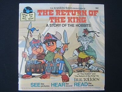 LORD HOBBITS RETURN The KING See Hear Read BOOK Vinyl RECORD #382 1980 TOLKIEN