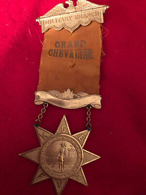 Independent Order Odd Fellows IOOF Military Branch Grand Chevalier RARE
