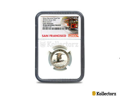 2018 S Silver 25C Block Island Reverse 50Th Anniversary Ngc Pf69 Early Releases