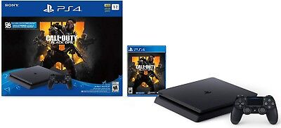 New PlayStation 4 Slim 1TB Console - Call of Duty: Black Ops 4 Bundle