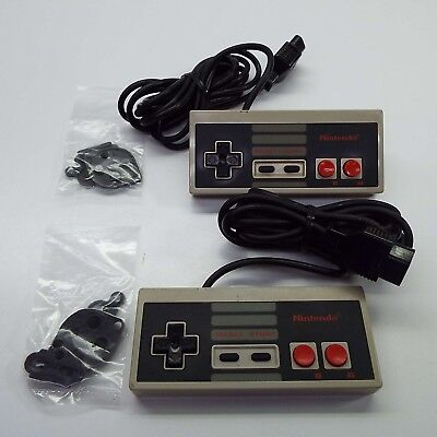 2X OEM Nintendo Entertainment System NES-004 Controllers + SPARE RUBBER (T111)