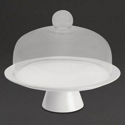 Bia Porcelain White Cake Stand 305mm | Display Round Cakes Cupcakes