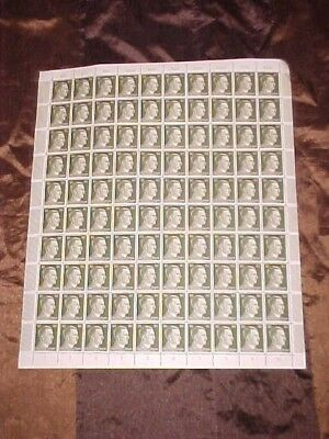 Complete Sheet of 100 Mint Never Hinged 30Pf Hitler Head Stamps *Dutch*