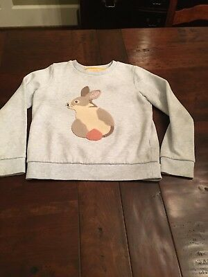 Super soft and cozy Mini Boden girls bunny swearshirt