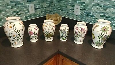 PORTMEIRION BOTANIC GARDEN VASES - SET OF 3 - Mint condition and RARE!!