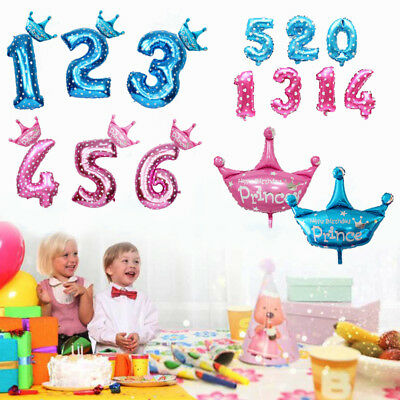 32'' Number Foil Balloon Giant Digit Helium 1st Birthday Party Baby shower Decor