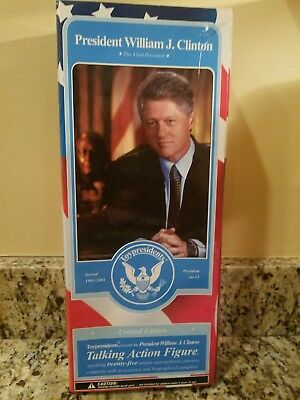 President Bill Clinton 2003 Talking Action Figure Collectible Doll