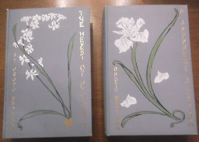 Set of 2 Hardcover Antique Books: A Japanese Blossom & The Heart of Hyacinth.
