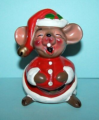 Josef Originals LARGER, JOLLY CHRISTMAS MOUSE, VERY GOOD CONDITION!