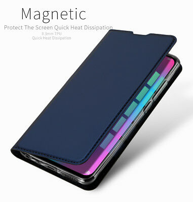 DD Skin Faux Leather Magnet Flip Case Kickstand Cover For Huawei Honor 10 Lite