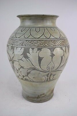 A RARE Chinese CiZhou Glazed Vase Ming Dy Or Earlier