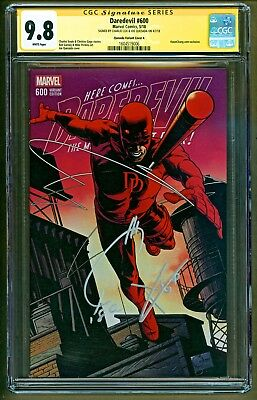 Daredevil #600 (2018 Marvel) Signed Charile Cox & Joe Quesada Variant A CGC 9.8