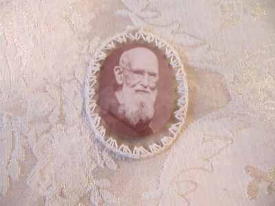 Vtg 2nd Class Relic of Fr. Solanus Casey *tiny piece of his habit* AUTHENTICATED