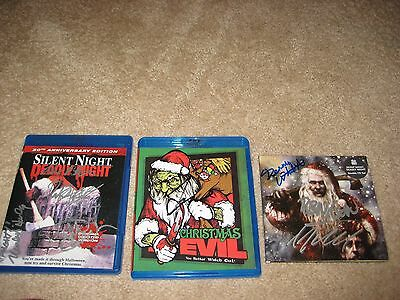 Silent Night Deadly Night Christmas Evil BluRays & CD Soundtrack ALL Autographed