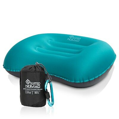 SuitedNomad Inflatable Camping Pillow-Ultralight Backpacking Blow Up Travel
