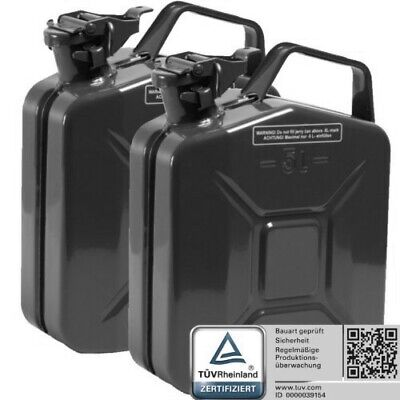 2x Oxid7 Metal Canisters Metal Jerry Can Stahlblechkanister Black 5 L