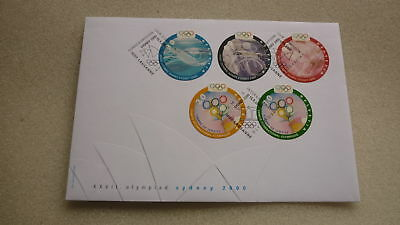 2000 Sydney Olympics Switzerland Stamp Issue Fdc, Set Of 5 Stamps
