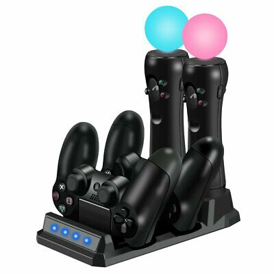 Charging Station for PS4/PS MOVE Controller Dual Charger Dock Gamepad AU Stock