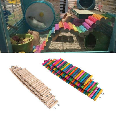 Climbing Ladder Wooden Path Platform Gym Exercise Toy For Pets Birds Hamsters