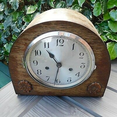 Vintage 1930's/40's WOODEN DOME SHAPE Charm Mantel Clock {for Restoration}