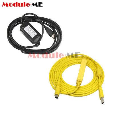 PLC Programming USB-SC09-FX Cable USB to RS422 Adapter For Mitsubishi FX Win7