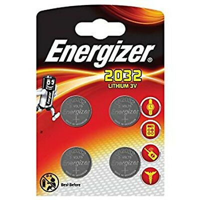 4 x Genuine ENERGIZER 2032 DL2032 CR2032 Coin Cell Battery 3v Lithium