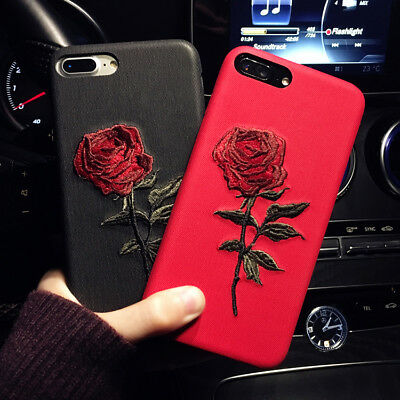Slim Fit Case Retro Rose Flower Protective Cover For iPhone X XR XS Max 8 7 Plus