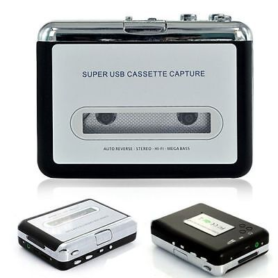 Tape to PC USB Cassette to MP3 Converter Capture Adapter Audio Music Player UK