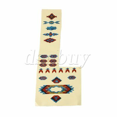 DIY Indian Style Blue Red Fretboard Markers Inlay Sticker Decal for Guitar Bass
